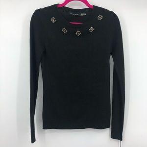 Ivanka Trump Jewel Embellished Crewneck Sweater XS
